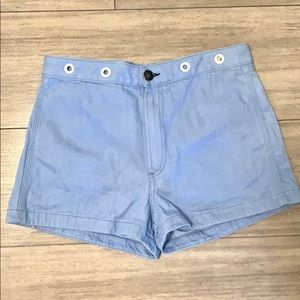 Rag & Bone short with mohair patch